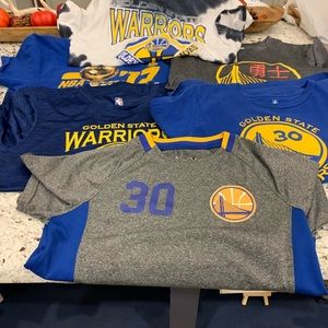 Boys Golden State shirts lot of 6 med & large